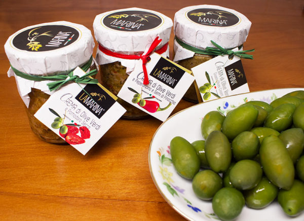 tapenade bio et olives vertes bio bella di Cerignola