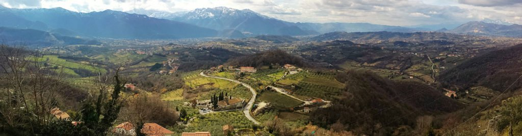 Paysage vallée di Comino Lazio Ciociaria italie