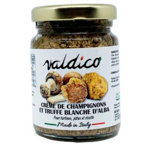 Crème de champignons et truffe blanche d'Alba