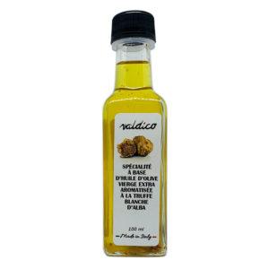 Condiment à l'huile d'olive vierge extra aromatisé à la truffe blanche d'Alba