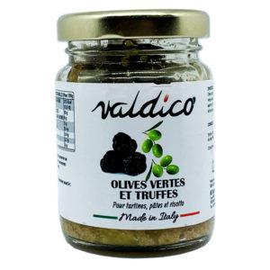 Crème olives vertes et truffe d'été
