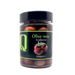 Olives noires bio en saumure