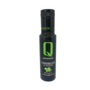 Condiment à l'huile d'olive bio aromatisé au basilic