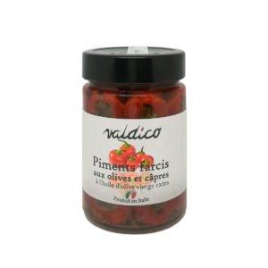 Petits piments farcis à l'huile d'olive
