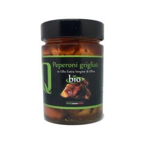 Poivrons grilés bio à l'huile d'olive
