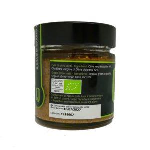 Crème d'olives vertes bio