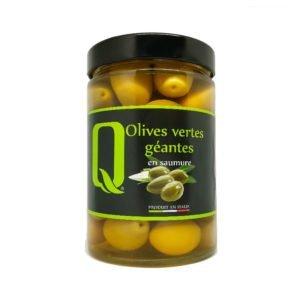 Olives vertes géantes en saumure