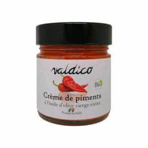 Crème de piments bio à l'huile d'olive